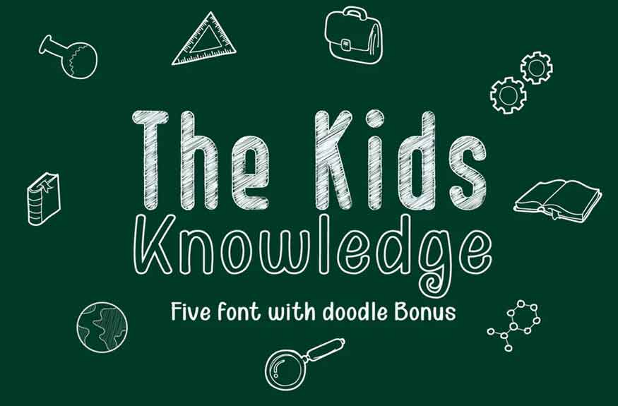 The Kids Knowledge Font