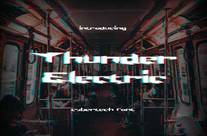 Thunder Electric Display Font