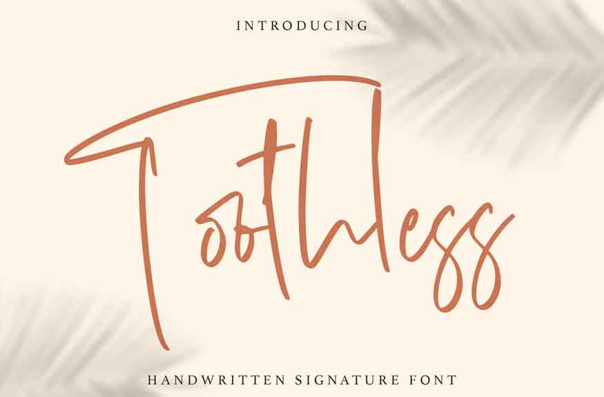 Toothless Font