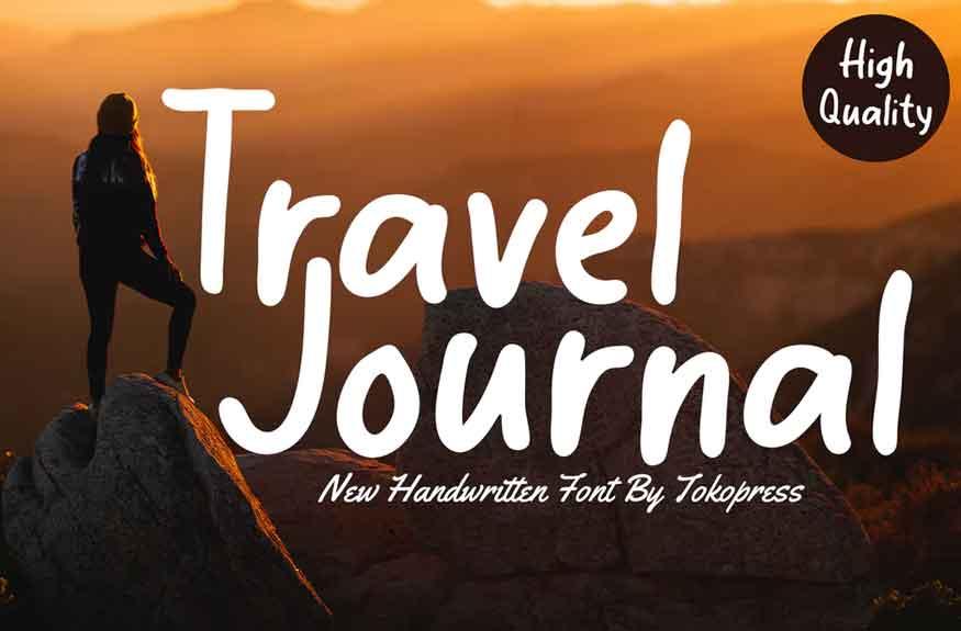 Travel Journal Font