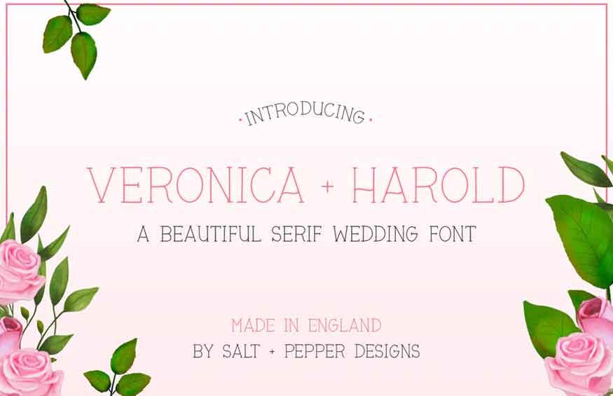 Veronica + Harold Font
