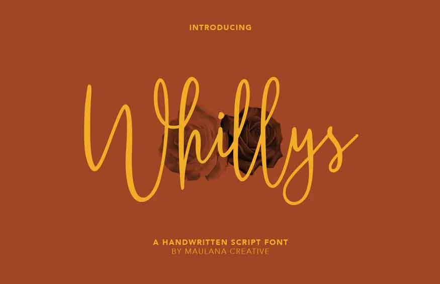 Whillys Script Font