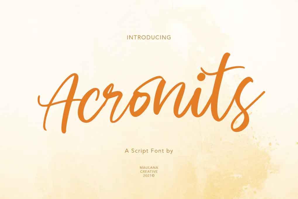 Acronits Script Font