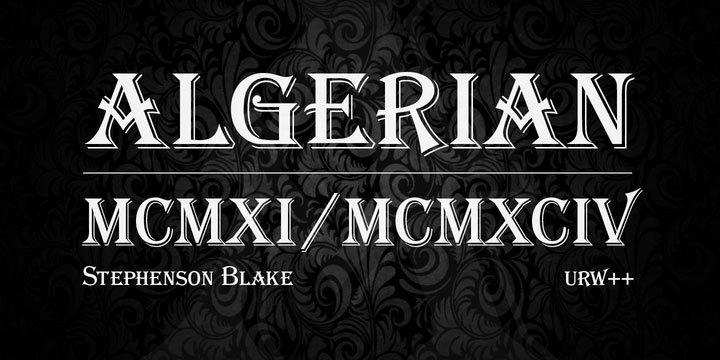 Algerian Font Family