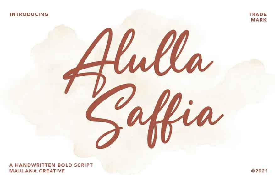 Alulla Saffia Font