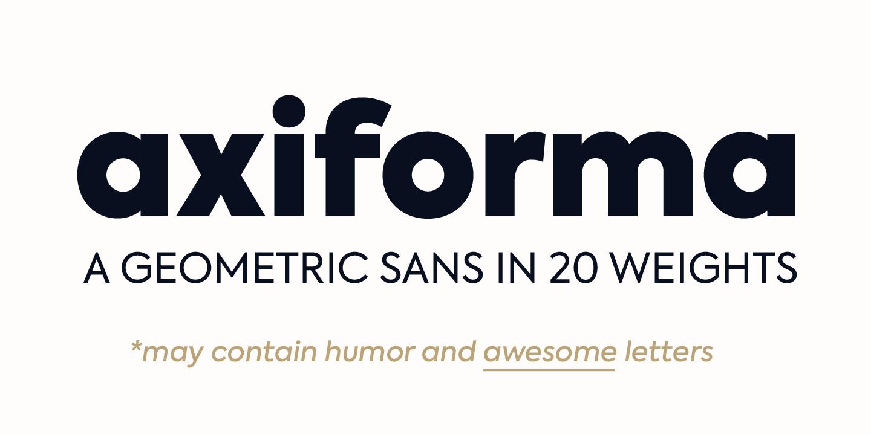 Axiforma Font