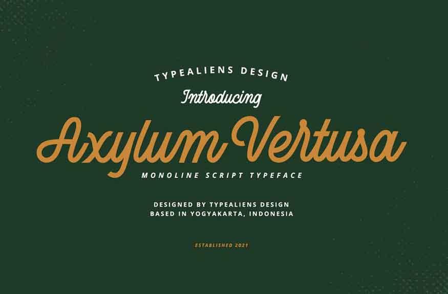 Axylum Vertusa Font