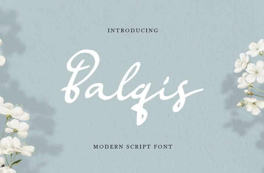 Balqis Script Font