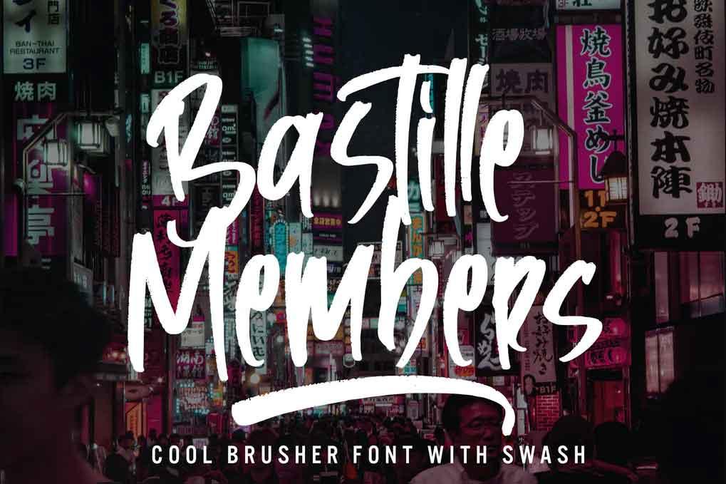 Bastille Members Font