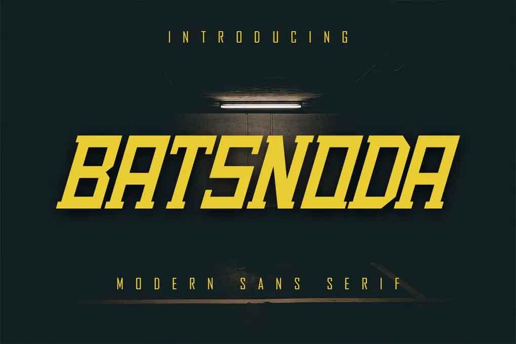 Batsnoda Font