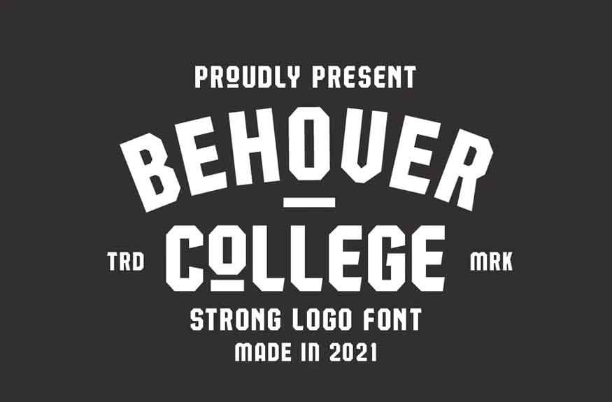 Behover College Font