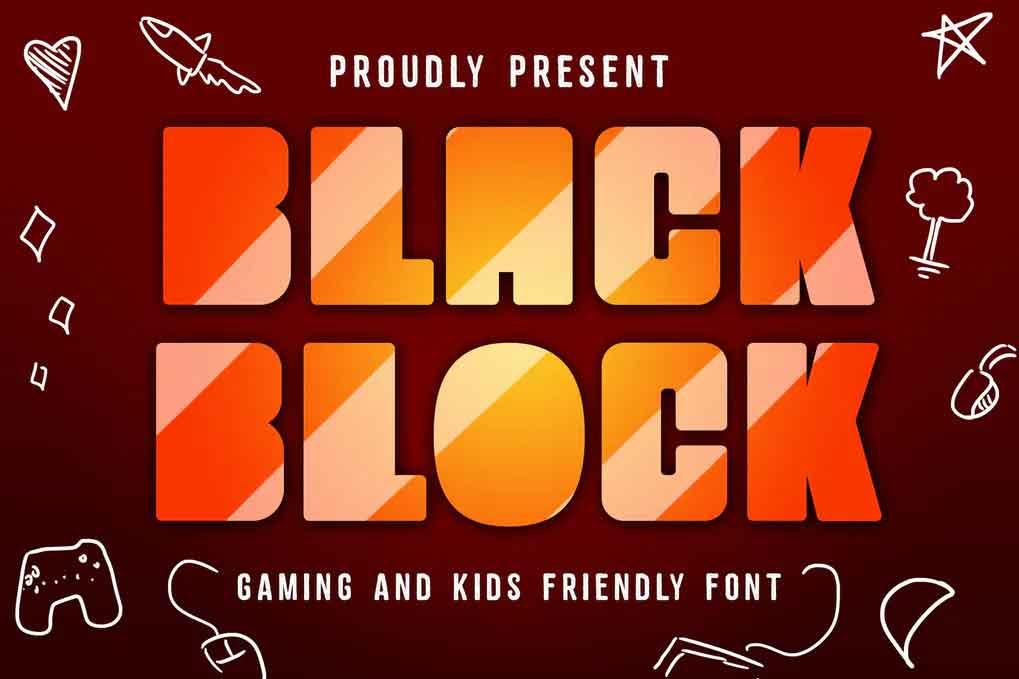 Black Block Gaming Font