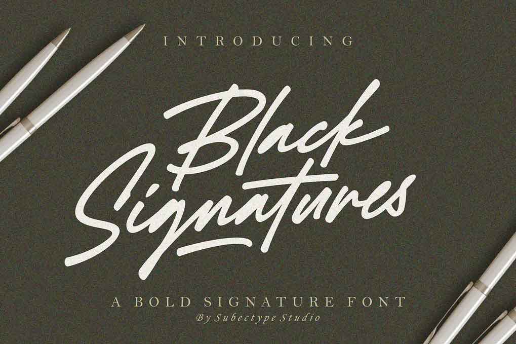 Black Signatures Font