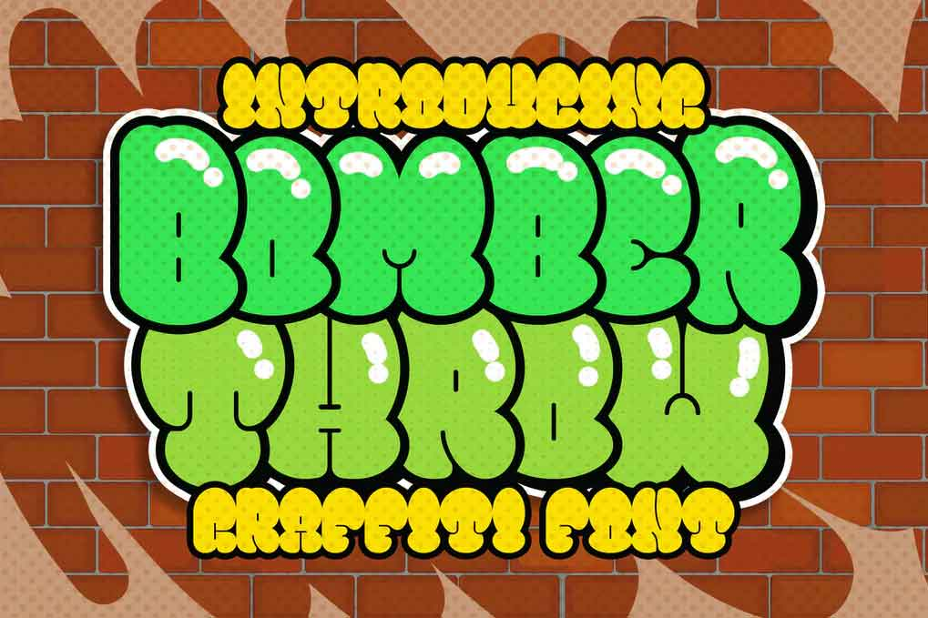 Bomber Throw Font