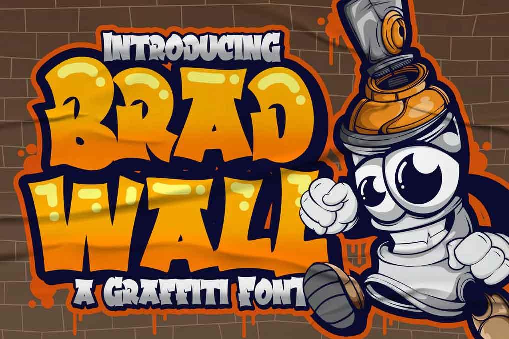 Bradwall Graffiti Font