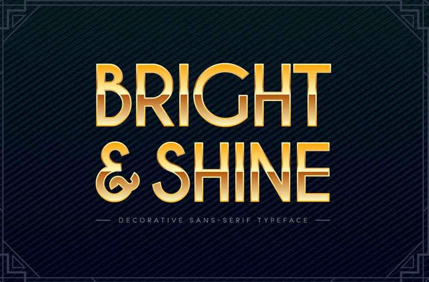 Bright & Shine Font