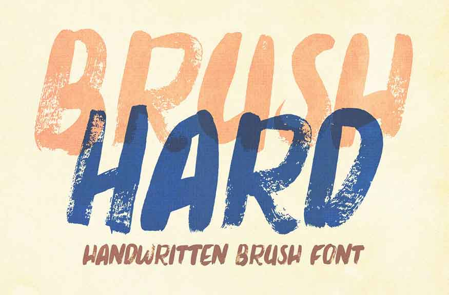 Brush Hard Font