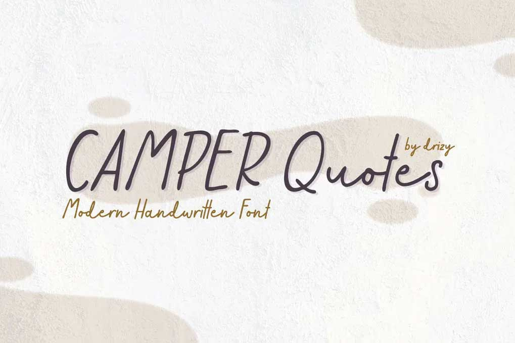 Camper Quotes Font