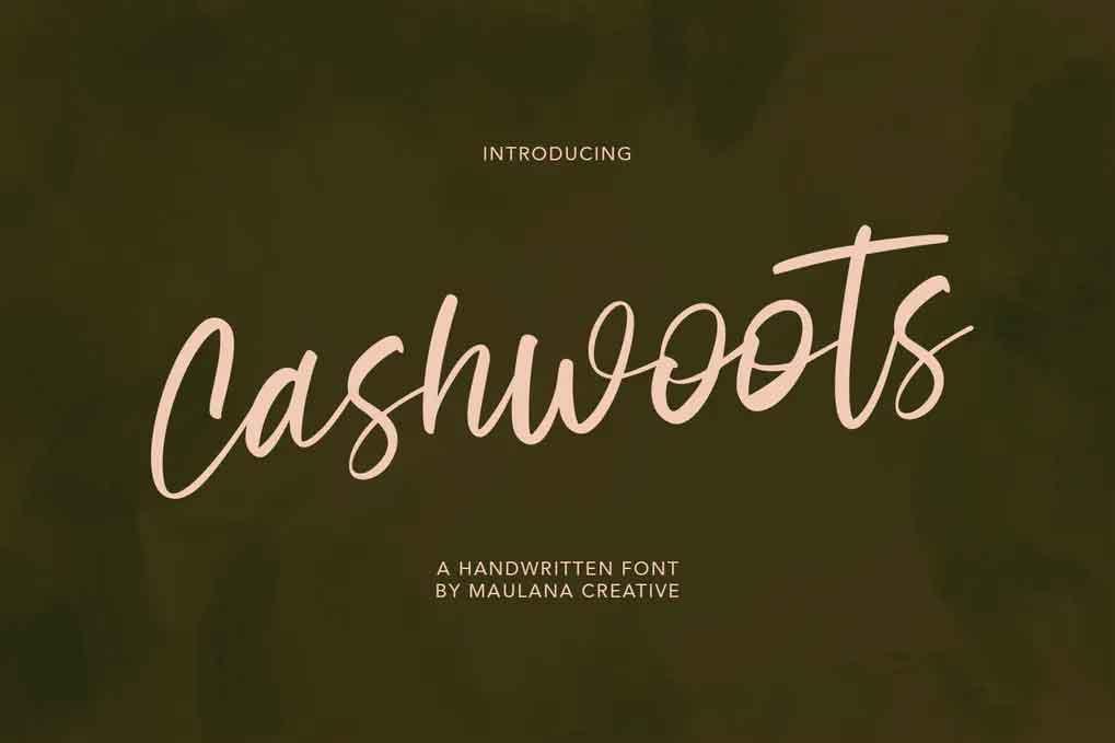 Cashwoots Font