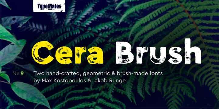 Cera Brush Font