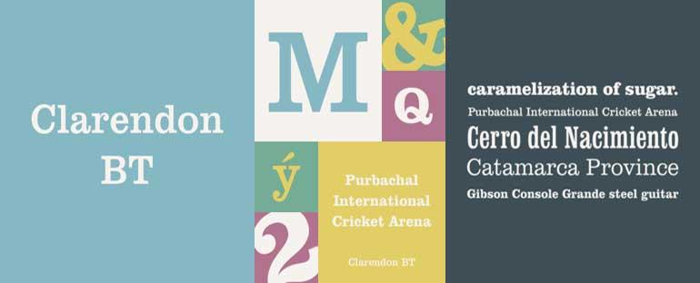 Clarendon BT Font