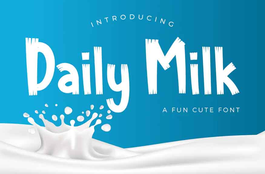 Daily Milk Font