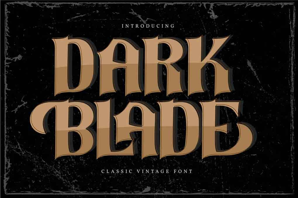 Dark Blade Font