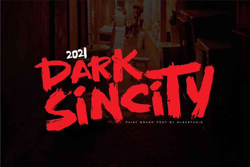 Dark Sincity Font