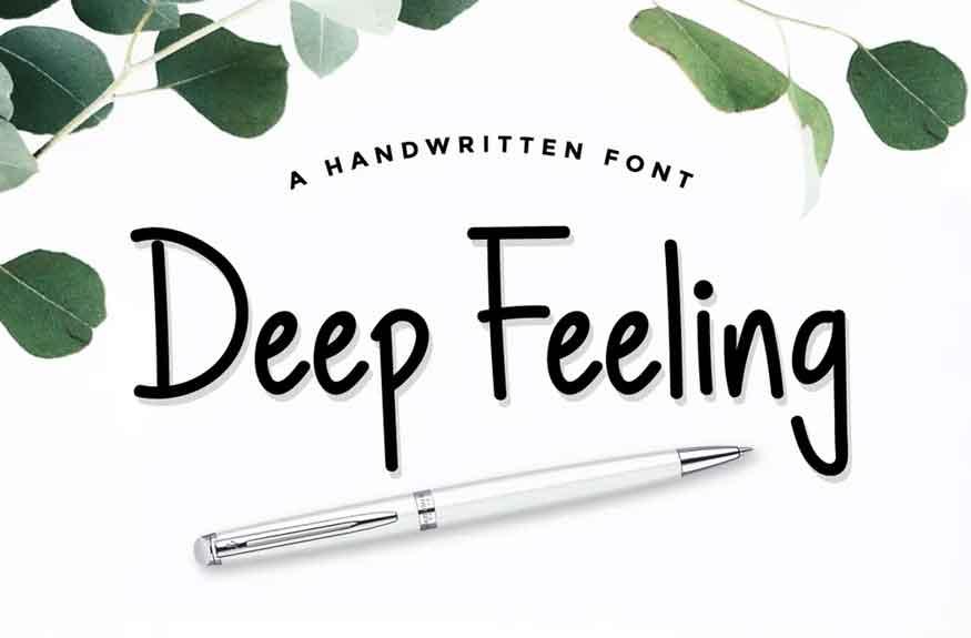 Deep Feeling Font