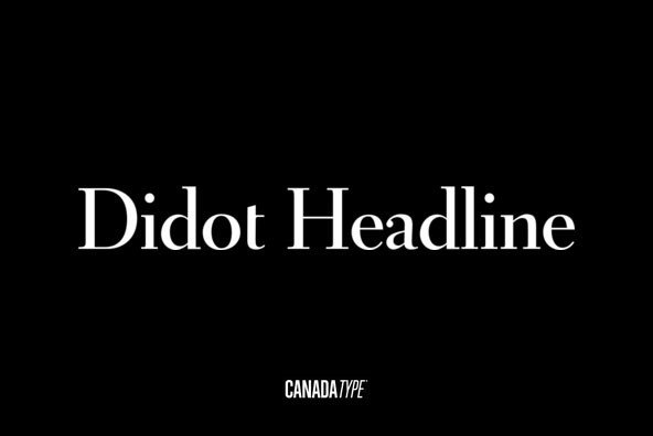 Didot Headline Font Family