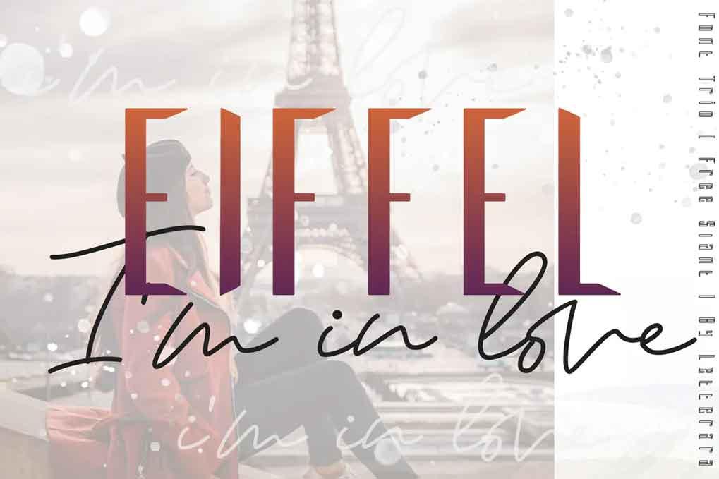 Eiffel in love Font