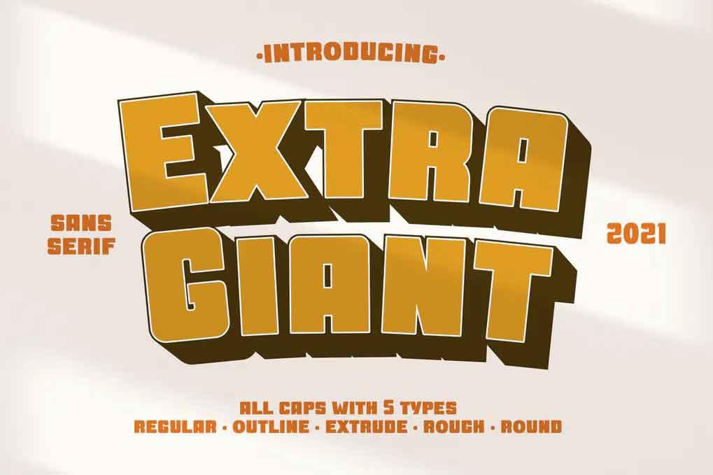 Extra Giant Font