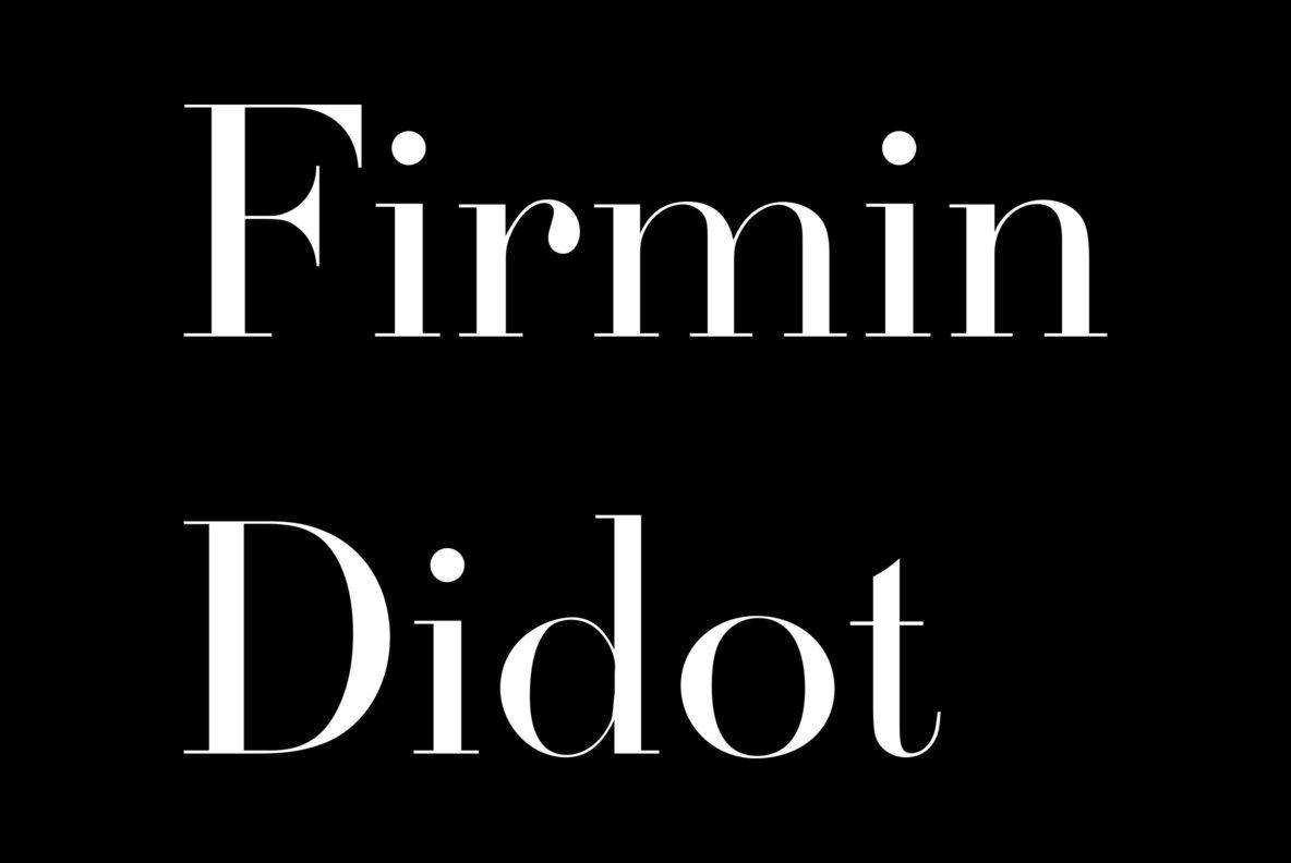 Firmin Didot Font
