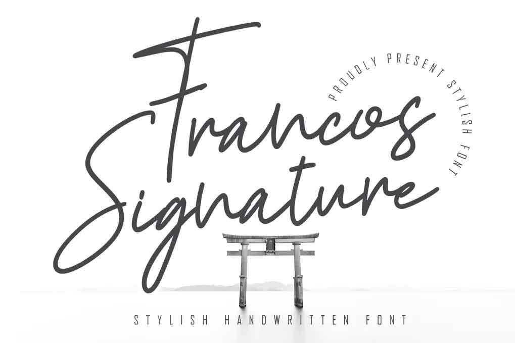 Francos Signature Font