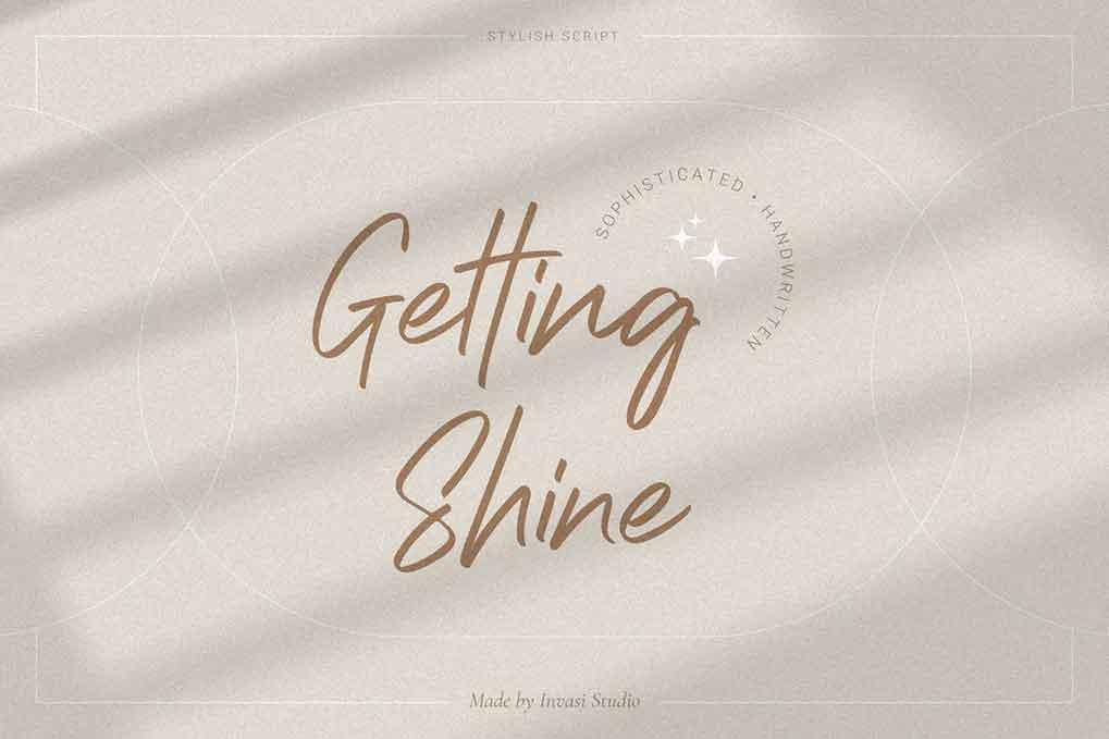 Getting Shine Font