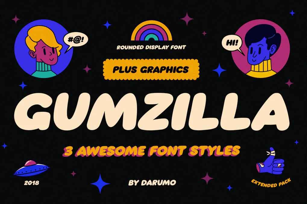 Gumzilla Font