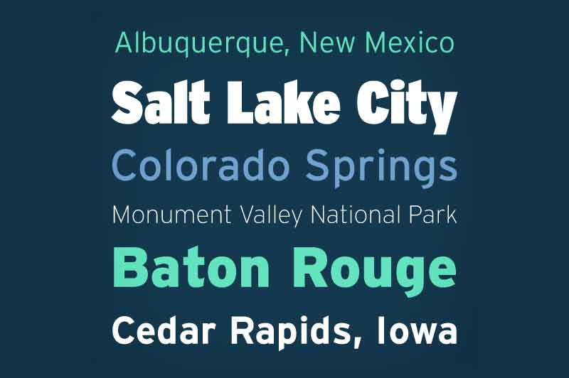 Interstate Font Family