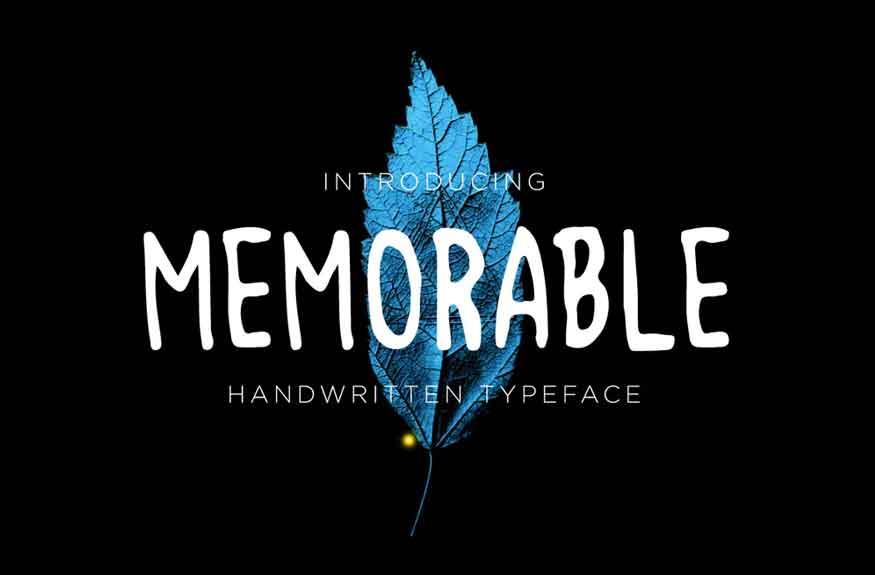 Memorable Font