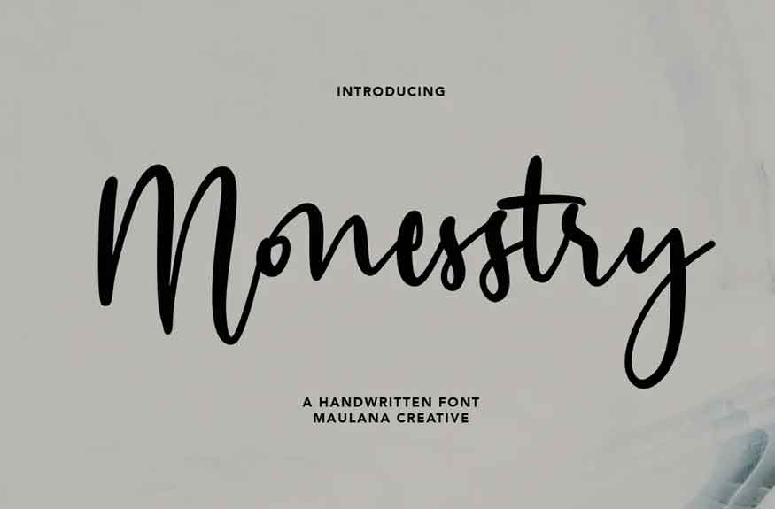 Monesstry Font