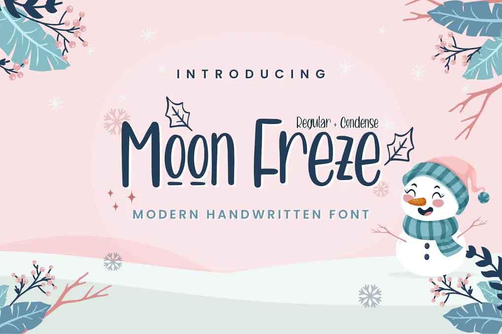 Moon Freze Font