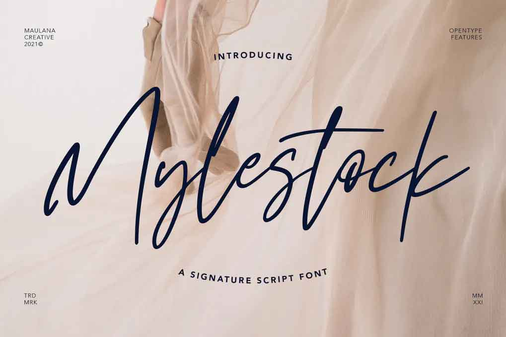 Mylestock Font