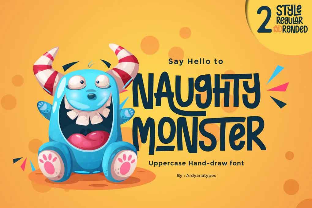 Naughty Monster Font