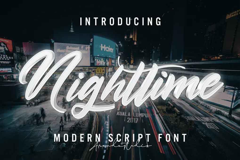 Nighttime Font