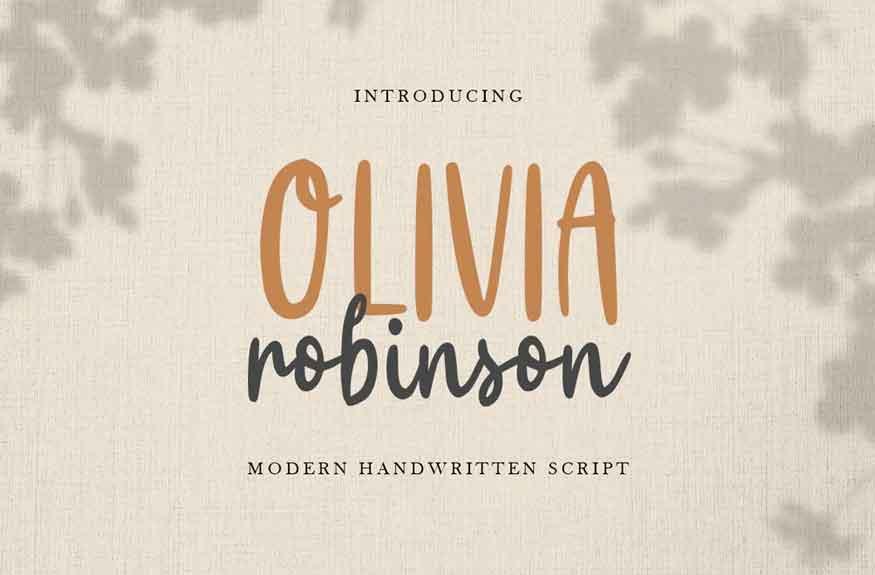 Olivia Robinson Font