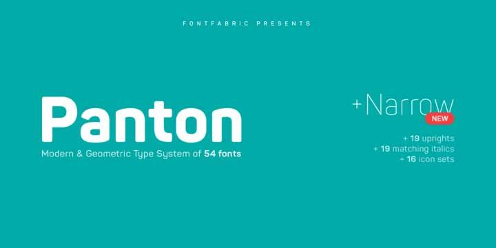 Panton Font Family