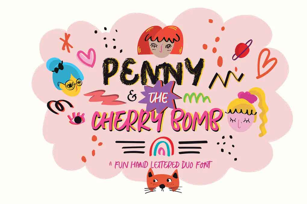 Penny & The Cherry Bomb Font