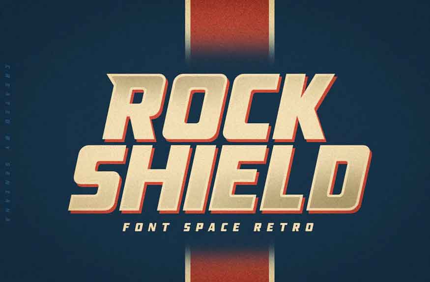 ROCK SHIELD Font