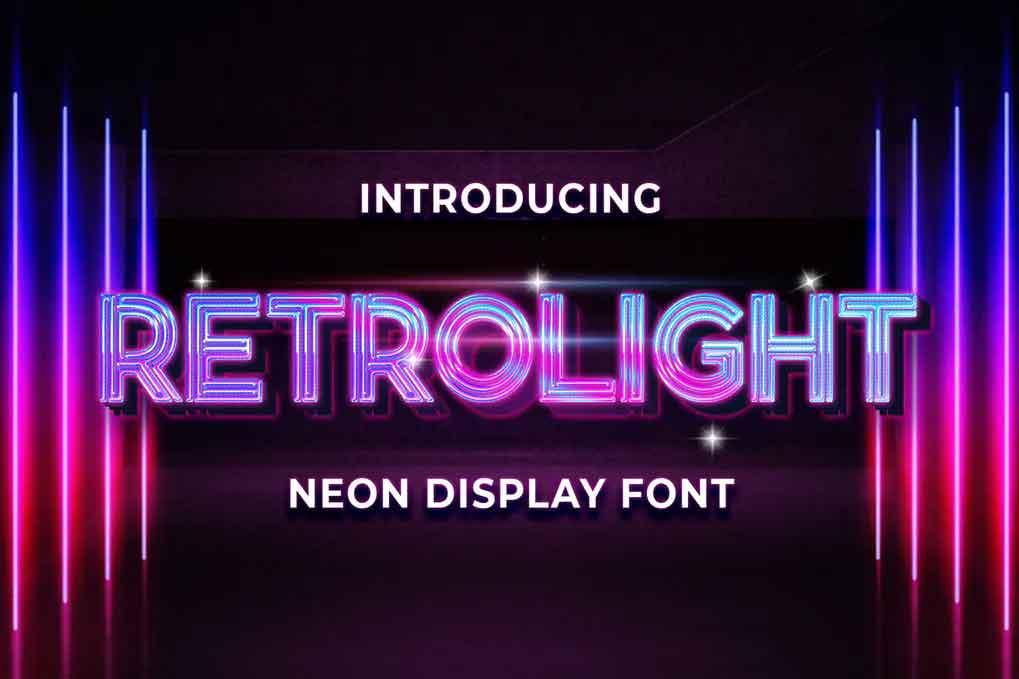 Retrolight Font