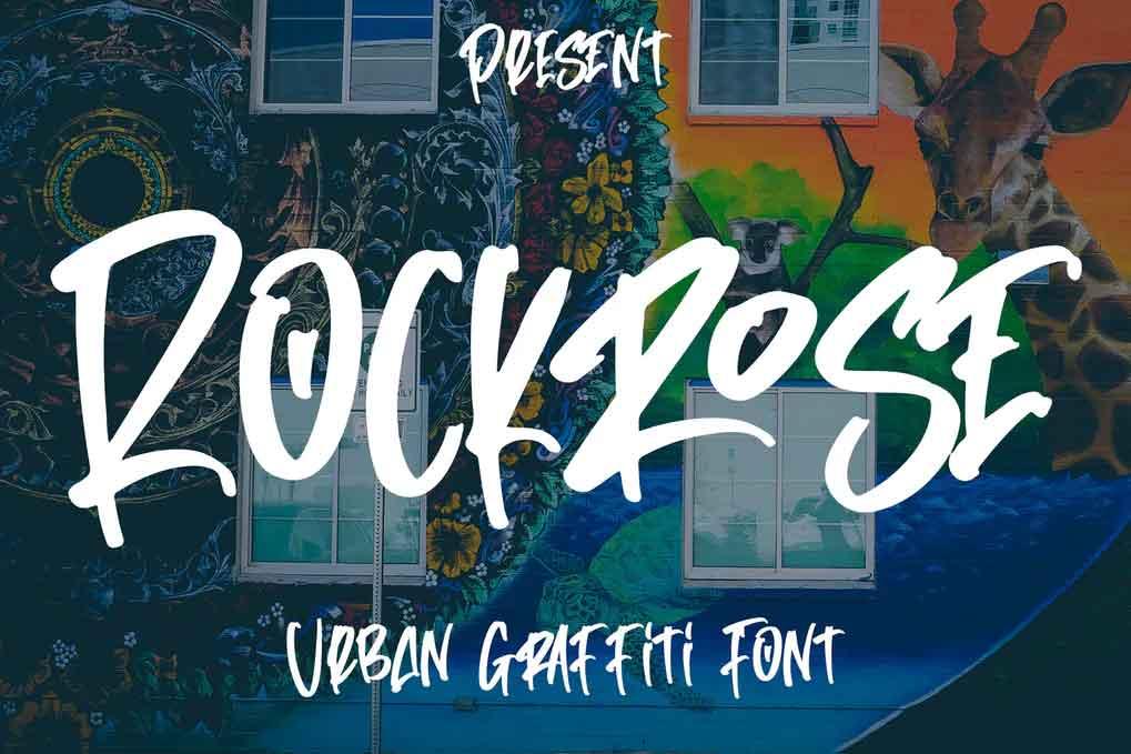 Rockrose - Urban Graffiti Font