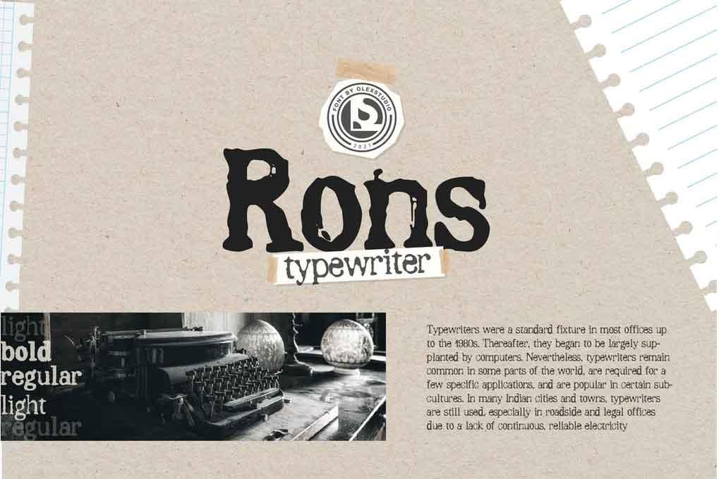 Rons Typewriter Font